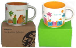 Starbucks Orlando Florida Coffee Mug Dolphins Palm Tree 2013 You Are Here  - $59.95