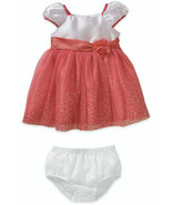 George Baby Infant Girls Dress White Pink Tulle... - $15.99