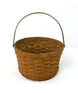 Vintage Longaberger Fruit Retro Apple Basket Woven Wood Bucket Container... - $18.80