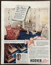 ORIGINAL 1940 Hoover Vacuum Cleaners PRINT AD Baby's Nursery - $12.69