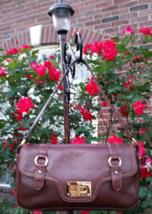 Ralph Lauren Leather Satchel Handbag with Gold Tone Hardware in Great Condition - $40.00