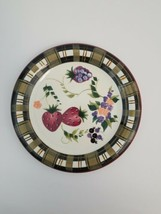 Oneida STRAWBERRY PLAID Dinner Plate 10 7/8 Inch Diameter Country Charm One 1 - $24.49