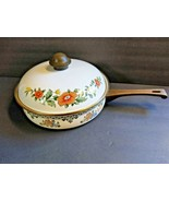 ASTA Enamel Cookware Skillet Frying Pan Amsterdam Pattern Germany with Lid - $94.05