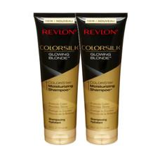 REVLON ColorSilk Glowing Blonde 8.45 Fluid Ounces Moisturizing Shampoo Set - $15.98