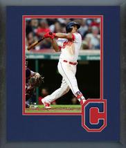 Jose Ramirez 2018 Cleveland Indians Action -11x14 Team Logo Matted/Frame... - $43.95