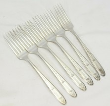 """Community Plate Grosvenor Dinner Forks Silverplate 7.75"""" Lot of 6 - $29.39"""