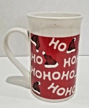 Royal Norfolk Christmas Coffee Mug Cup Santa's Hat Ho Ho Ho Red 12 fl oz... - $11.99