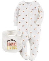 Carter's Unisex Baby 2 Pack Holiday Bodysuits, white, Size Newborn, $24 - $11.87
