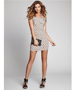 Guess OFF-THE-SHOULDER POLKA-DOT BODY-CON DRESS - $105.57
