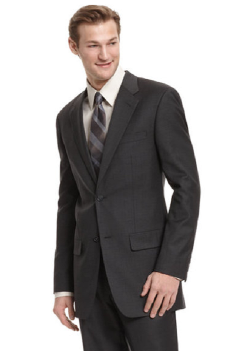 Primary image for Alfani Charcoal Regular Fit Trio Blazer, Size 44L