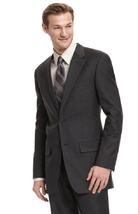 Alfani Charcoal Regular Fit Trio Blazer, Size 44L - $98.99