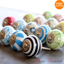 LOT OF 20 MULTI-COLOR CERAMIC KNOB DRAWER PULL CABINET HANDLE DOOR DRESS... - $31.68