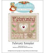 February Monthly Sampler 2017 series cross stit... - $10.00