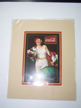 Coca-Cola Reproduction Matted Print So Refreshing - NEW  CC-12  FREE SHI... - $7.43