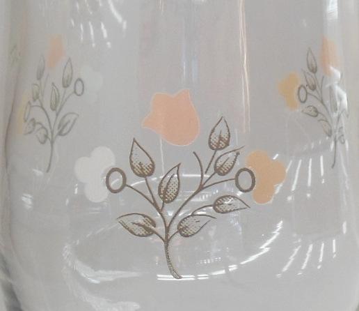 "Pfaltzgraff Remembrance Short Goblet Stemware Wine Glass  5.75"" Flower Pattern"