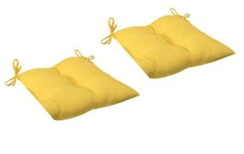 CC Christmas Decor 2 Outdoor Patio Tufted Chair Seat Cushions - Goldenro... - $68.05