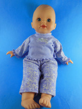 "Fisher Price Little Mommy Baby Soft Body in an original lavender outfit 13.5"" - $10.60"