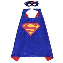 TPDT* Style 1 Superhero Capes And Mask Superman Spiderman Batman Super H... - £8.04 GBP