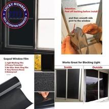 Blackout Static Cling Window Tint Room Darkening Window Film 100% Privacy - $22.57