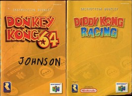 Diddy Kong Racing & Donkey Kong N64 Nintendo 64 Instruction Manual Booklet Only! - $7.12