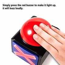 DAFEN Game Answer Buzzer 2 Pcs, Game Buzzer Alarm Sound Play Button with Light T image 6