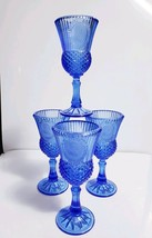Set of 4 Vintage 1976 Cobalt Blue Fostoria Avon George Washington Cameo ... - $23.76