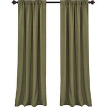 """Elrene Cachet 3 in 1 Glade Faux Silk Curtain Panel 84"""" Lined - $24.74"""