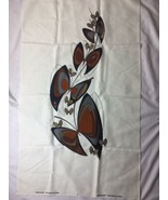 Vintage Alfred Shaheen Handmade in Hawaii Butterfly Print Fabric Browns - $28.04