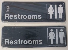 Advantus 83630 Contemporary Restrooms Sign with International 2pcs - $3.96
