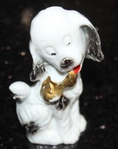 VTG 1930-40's Anthropomorphic  Porcelain Dog Statue Japan - $48.99