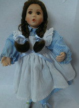 "Dorothy Wizard of Oz Doll Mary Tretter 13"" Blue & White Dress w Pinafore - $19.59"