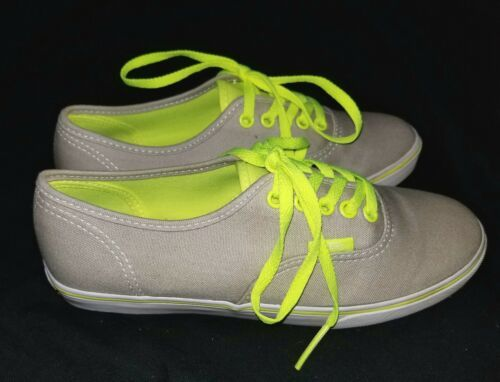 Women's Vans Athletic Shoes Size 5 Grey Neon Yellow Mint Condition