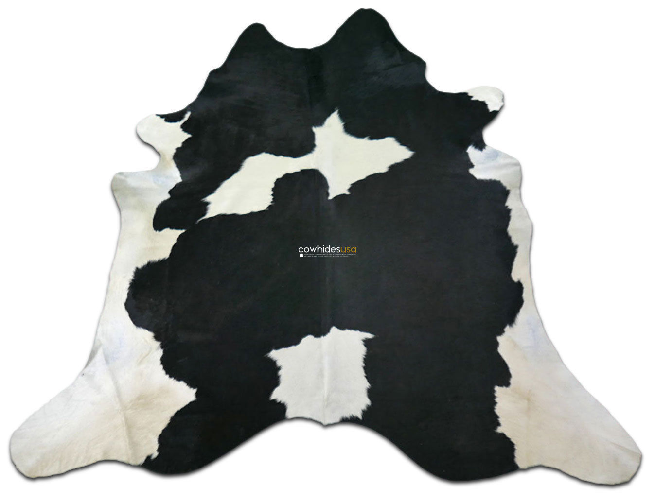 Black White Cowhide Rug Size 8 5 X 7 4 And 11 Similar Items
