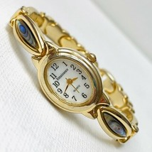 Vintage Renaissance MOP Dial Abalone Panel Woman's Gold Bracelet Watch W... - $18.76