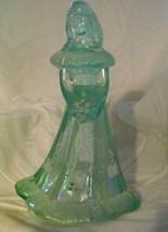 Fenton Art Glass Aqua Bridesmaid Doll Figurine SHELLY FENTON - $87.07