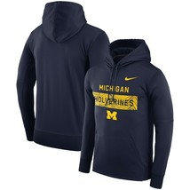 Michigan Wolverines Mens Nike Sideline Seismic THERMA-FIT Hoodie - Large... - $49.99