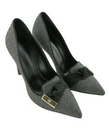 Mulberry Kensington Grey Stiletto High Heels Shoes Marl Cotton Size UK 4... - $462.94