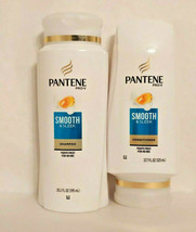 Pantene Pro-V Smooth & Sleek Shampoo (20.1 Fl Oz) + Conditioner (17.7 oz) - $14.97