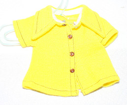 Vintage Ideal Crissy Mia Velvet Yellow Blouse - $18.81