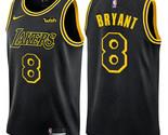 Los Angeles Lakers #8 Kobe Bryant Black Jersey - ₹3,062.11 INR