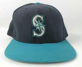 Seattle Mariners New Era Baseball Snapback Hat Pro Model DuPont 1990s Blue Teal - $39.59