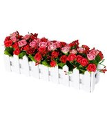 George Jimmy Artificial Flowers Arrangement Room Components Wood Fence F... - £22.74 GBP