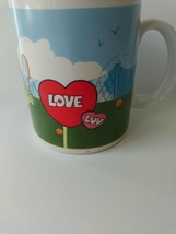 Vintage Enesco Collectible Coffee Mug Cup 1986 Score is Love Red Hearts - $22.76