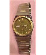 Seiko Day Date Alarm Men's Watch Brown Dial 591229 Japan Mvmt Working - $75.00