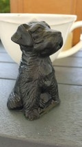 Vintage Puppy Dog Coal Figurine Hand Crafted Charringtons Kingmaker Brit... - $16.07