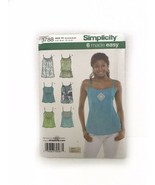 Simplicity 3788 Misses Cami Camisole Top Sleeveless Sewing Pattern - $9.89