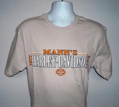 New Mens Harley Davidson Mann's Columbus Indiana t shirt Medium tan state logo - $32.62