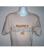 New Mens Harley Davidson Mann's Columbus Indiana t shirt Medium tan stat... - $32.62
