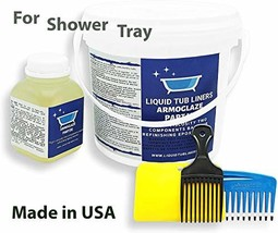 Armoglaze 2K Shower Base Refinishing Kit - for 2x2 or 3x3 - Odorless Pou... - $164.02