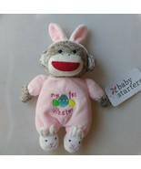 Baby Starter My 1st Easter Sock Monkey Rattle Pink Plush - $28.01